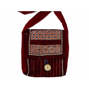 Burgundy Cotton Bag