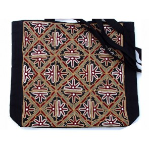Multi-colored Embroidered Tote Bag