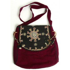 Maroon And Black Bag