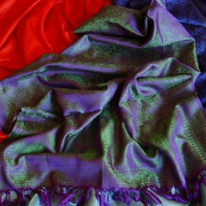Purple n\' Green Silk Scarf