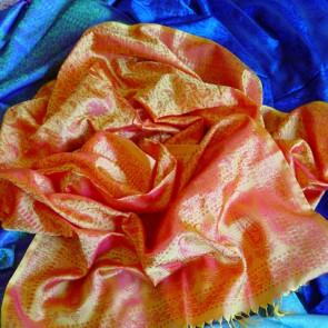 Tangerine Silk Scarf