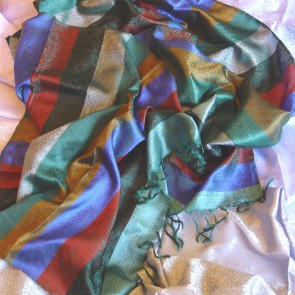 Multicolored Silk Scarf