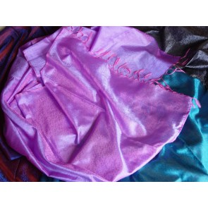 Purple Bouquet Silk Scarf