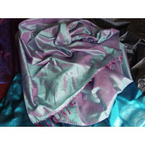 Evening Shimmer Silk Scarf