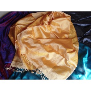 Golden Fields Silk Scarf