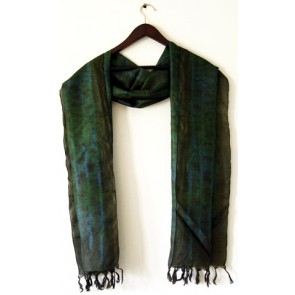 Night Garden Silk Scarf