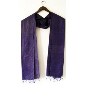 Magnetic Indigo Silk Scarf