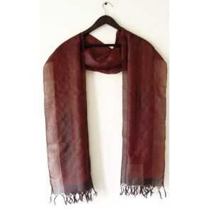 Ruby Radiance Silk Scarf