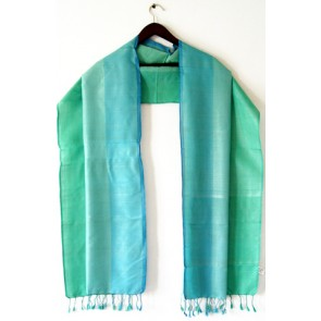 Turquoise Fields Silk Scarf