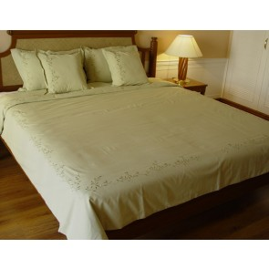 Light Olive Green Cotton Duvet Cover