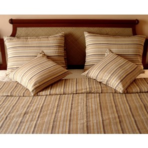 Multi-colored Striped Linen Duvet Cover