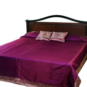 Purple Silk Bedspread