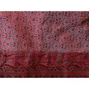 Burgundy Silk Bedspread