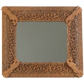 Decorative Carved Wooden Mirror