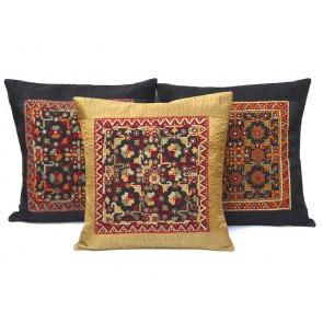 Dark Khakhi and Black Cushion Covers