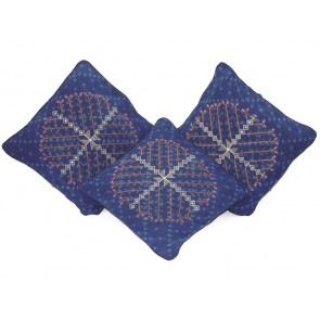 Indigo Cotton Throw Pillows