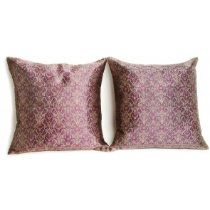 Purple Silk Throw Pillows