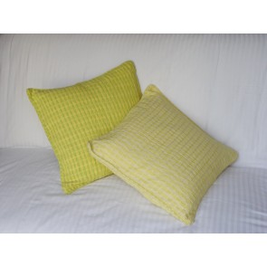 Lemon Yellow and Cream Throw Pillows