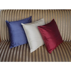 Solid Silk Throw Pillows