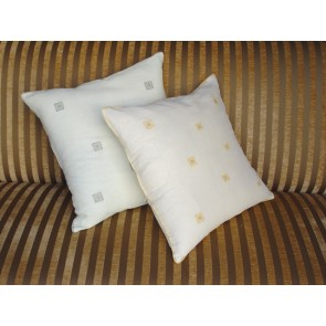 Beaded Cotton Voile Throw Pillows