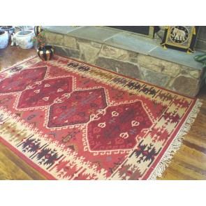 Red Diamonds Kilim