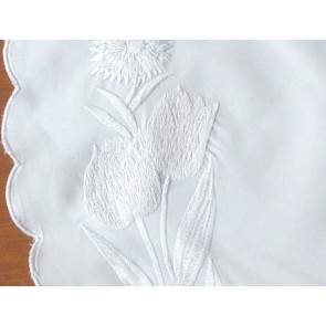 White Embroidered Placemats