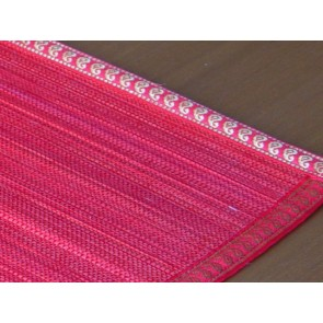 Red Split Bamboo Place Mat with Zari