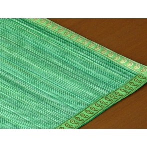 Green Split Bamboo Place Mat with Zari