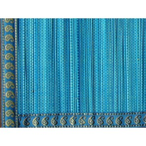 Blue Split Bamboo Place Mat with Zari