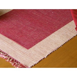 Burgundy and Beige Place Mats