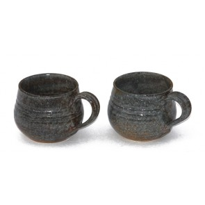 Brown Hand- Made Ceramic Coffee Mugs