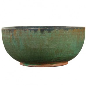 "8.55"" Dia Glazed Ceramic Bowl"