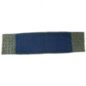 Midnight Blue Beaded Cotton Table Runner
