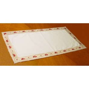 White and Gold Embroidered Table Runner