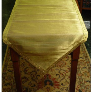 Gold Mirror work Table Runner