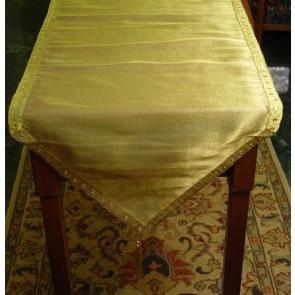 Gold Mirror work Table Runner
