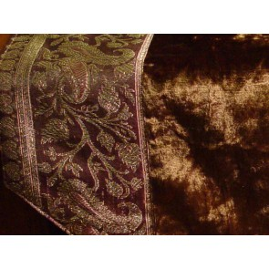 Brown Velvet Table Runner