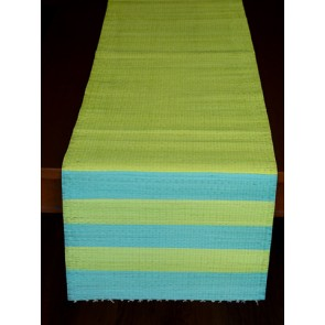 Lime n\' Blue Tie and Dye Table Runner