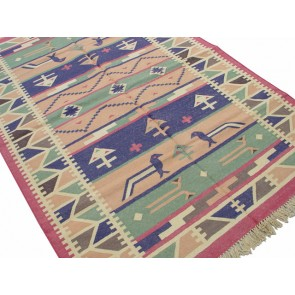 Morning Birds Dhurrie Rug