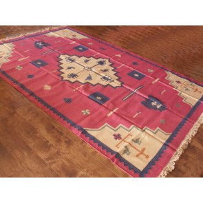 Birds of Paradise Dhurrie Rug