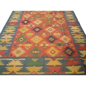 Cosmic Diamonds Dhurrie Rug