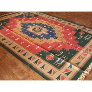 Colorful Desert Dhurrie Rug