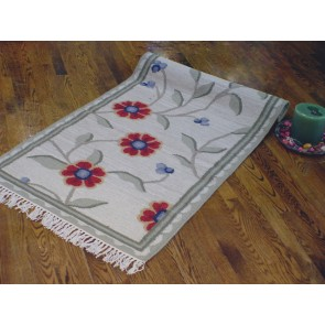 Winter Blossoms Kilim